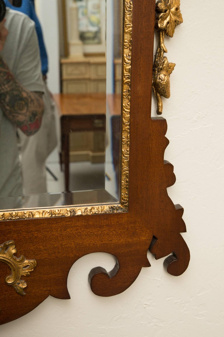Mahogany and Parcel-Gilt George II Style Mirrors For Sale 2