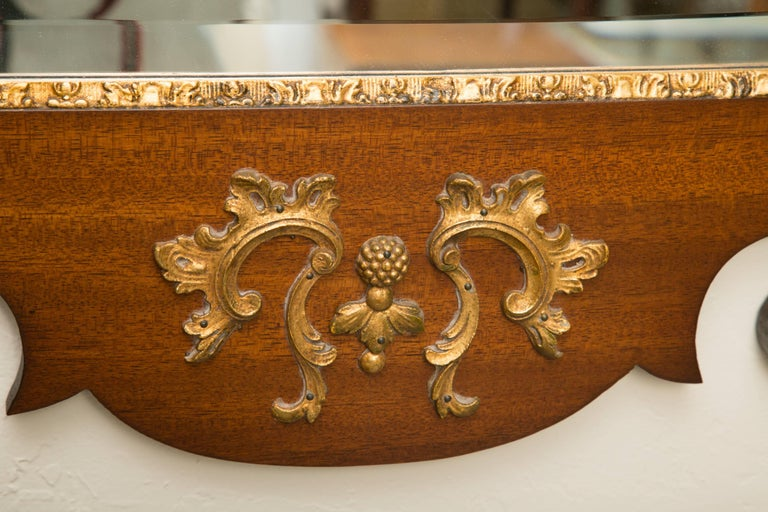 Mahogany and Parcel-Gilt George II Style Mirrors For Sale 3