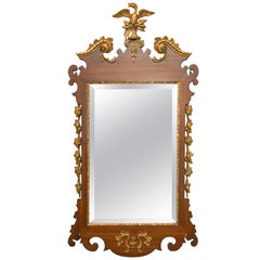 Mahogany and Parcel-Gilt George II Style Mirrors