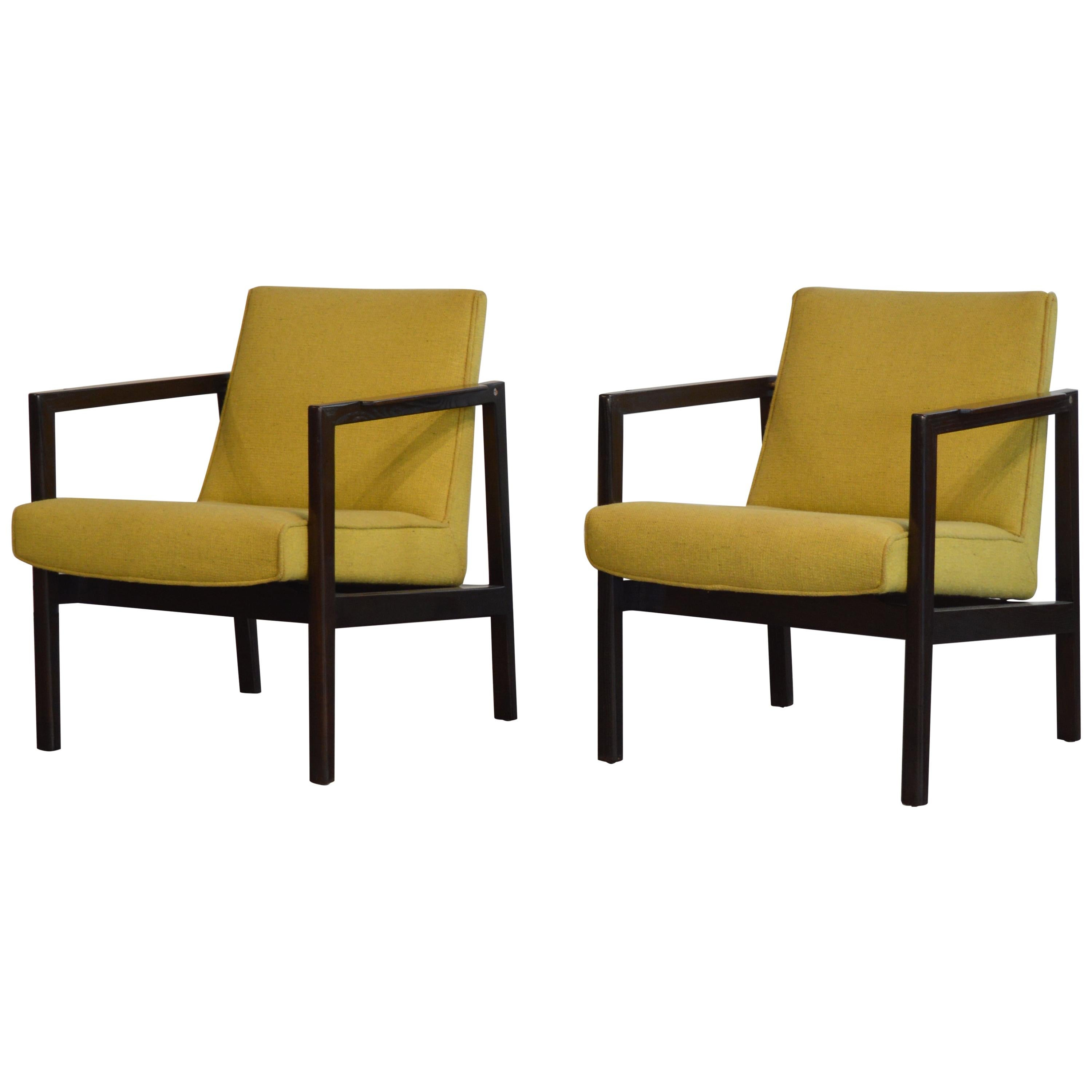 Edward Wormley Mahogany and Rosewood Open Frame Lounge Chairs for Dunbar