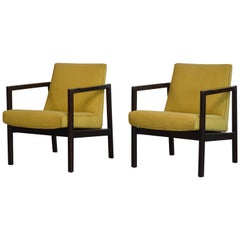 Mahogany and Rosewood Open Frame Chairs by Edward Wormley for Dunbar