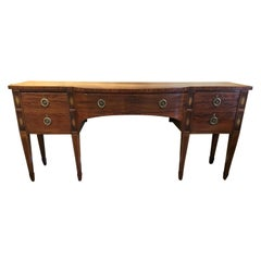 Mahogany and Satinwood Buffet/Sideboard circa 1840 with Marquetry Inlay Sheraton