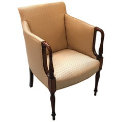 Mahogany and Satinwood Sheraton Style Occasional Chair