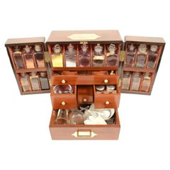 Mahogany Apothecary Cabinet, Brass Handle and Brass Hinges