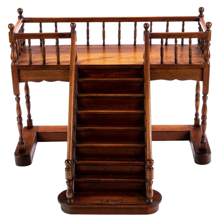 Mahogany Architectural Model Staircase with Landing