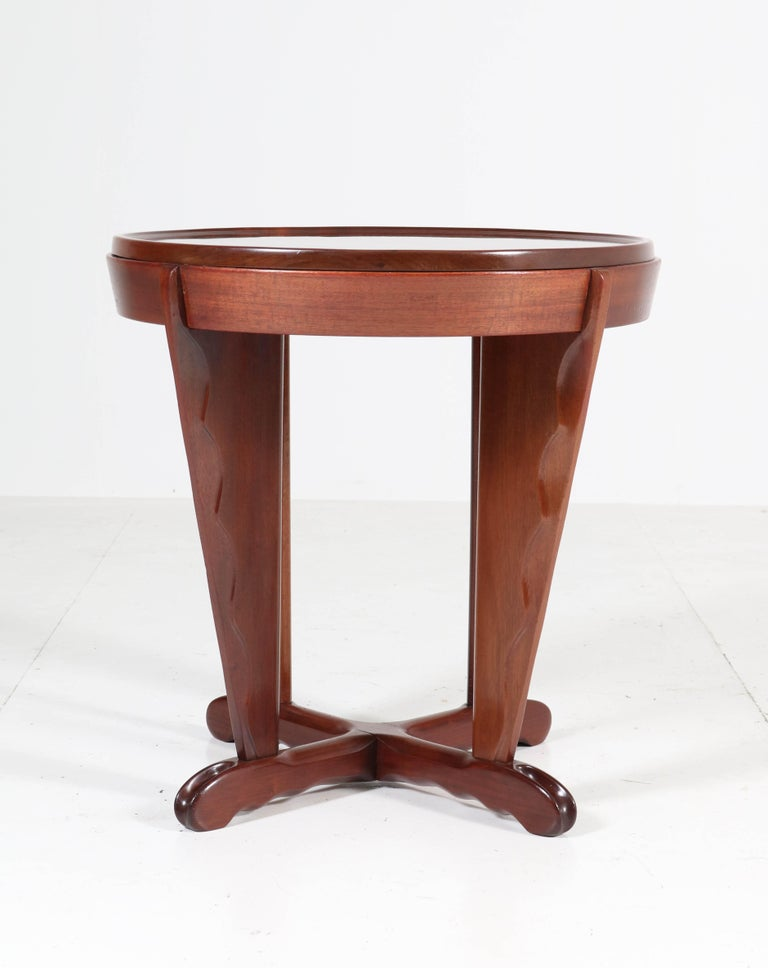 Early 20th Century Mahogany Art Deco Amsterdam School Coffee Table Attributed to A.F. van der Weij For Sale