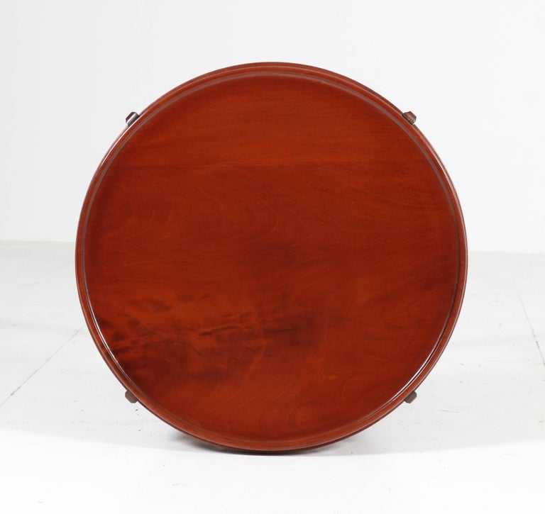 Mahogany Art Deco Amsterdam School Coffee Table Attributed to A.F. van der Weij For Sale 1