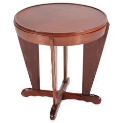Mahogany Art Deco Amsterdam School Coffee Table Attributed to A.F. van der Weij