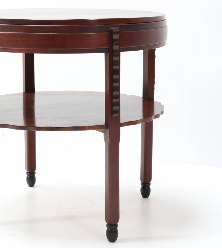 Mahogany Art Deco Amsterdam School Coffee Table by Fa. Drilling Amsterdam, 1920s In Good Condition For Sale In Amsterdam, NL