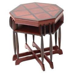 Mahogany Art Deco Amsterdamse School Coffee Table by F.A. Warners, 1920s