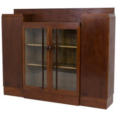 Mahogany Art Deco Haagse School Bookcase by J.C.Jansen for L.O.V. Oosterbeek