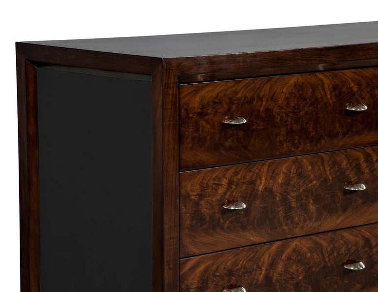 Mahogany Art Deco Inspired Cabinet Buffet For Sale 4