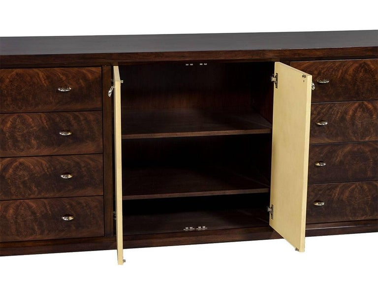 Mahogany Art Deco Inspired Cabinet Buffet In Excellent Condition For Sale In North York, ON