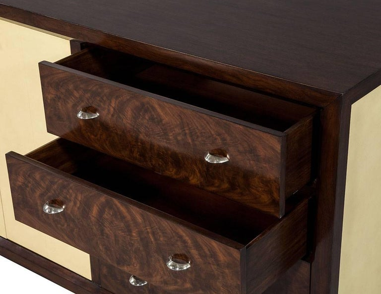 Contemporary Mahogany Art Deco Inspired Cabinet Buffet For Sale