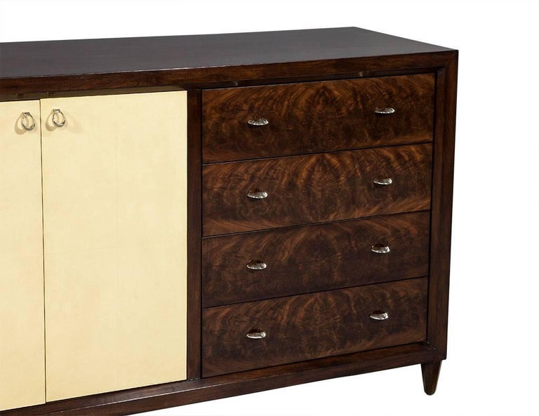 Mahogany Art Deco Inspired Cabinet Buffet For Sale 2