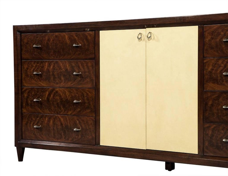 Mahogany Art Deco Inspired Cabinet Buffet For Sale 3