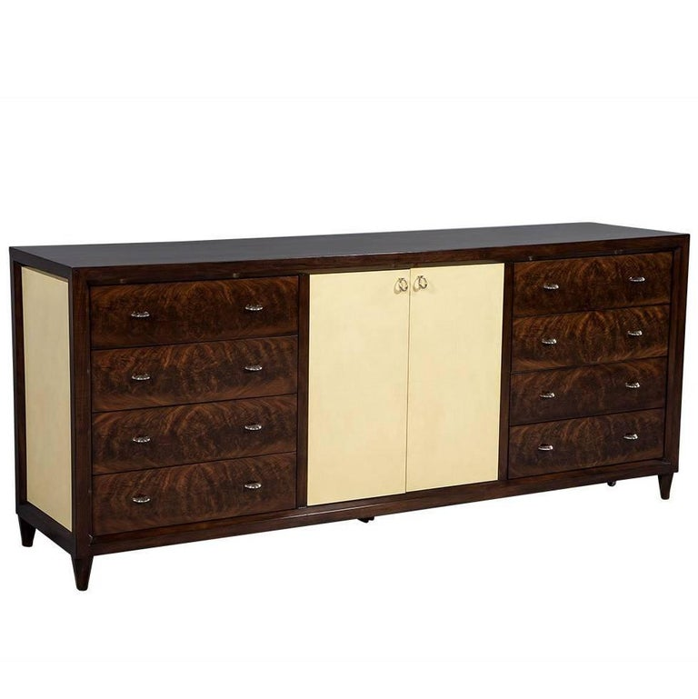 Mahogany Art Deco Inspired Cabinet Buffet For Sale
