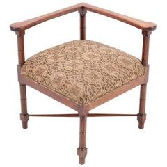 Mahogany Art Nouveau Corner Chair by Jac. van den Bosch, 1900s