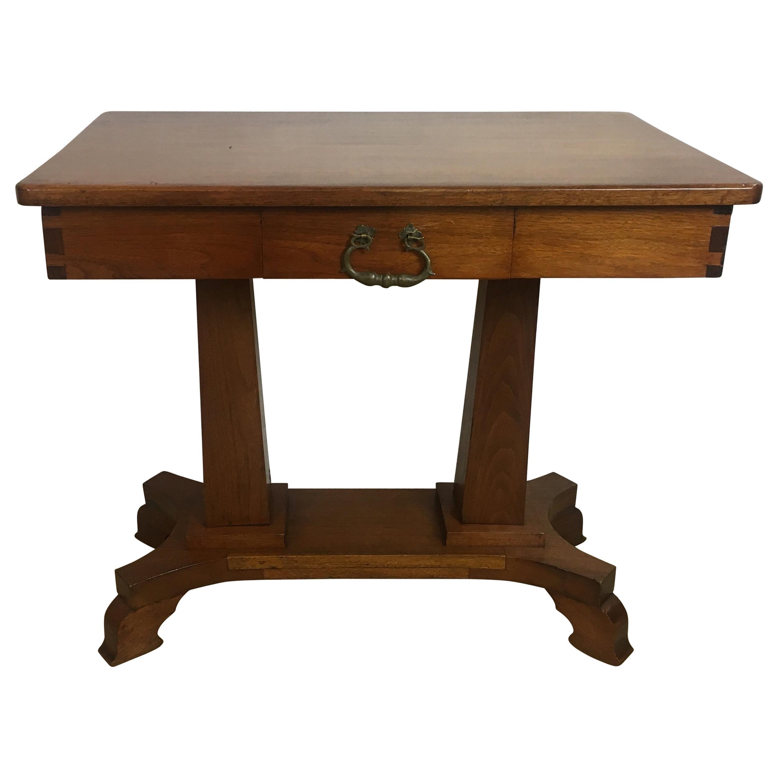 American Arts & Crafts Era Mahogany Side Table or Small Desk