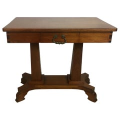 Iconic American Arts & Crafts Era Mahogany Table or Desk
