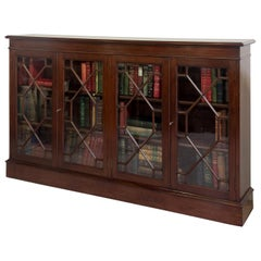 Mahogany Astragal Glazed 4 Door Bookcase, circa 1900