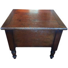 Mahogany Bed Chamber or Stool, 19th Century