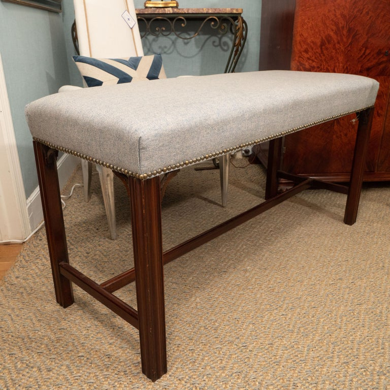 Contemporary Mahogany Bench For Sale