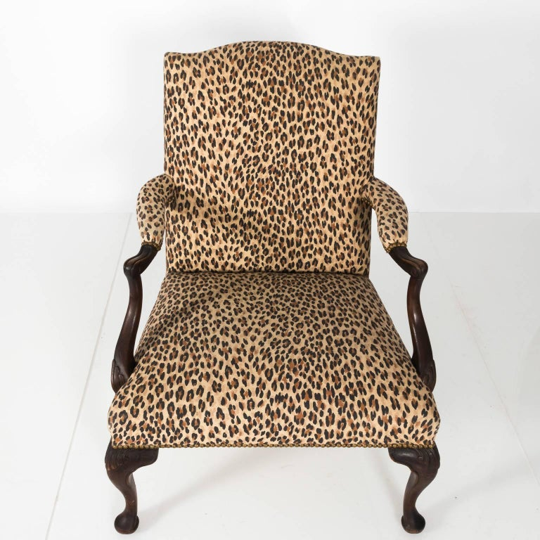 Mahogany Bergere Chair In Good Condition For Sale In Stamford, CT