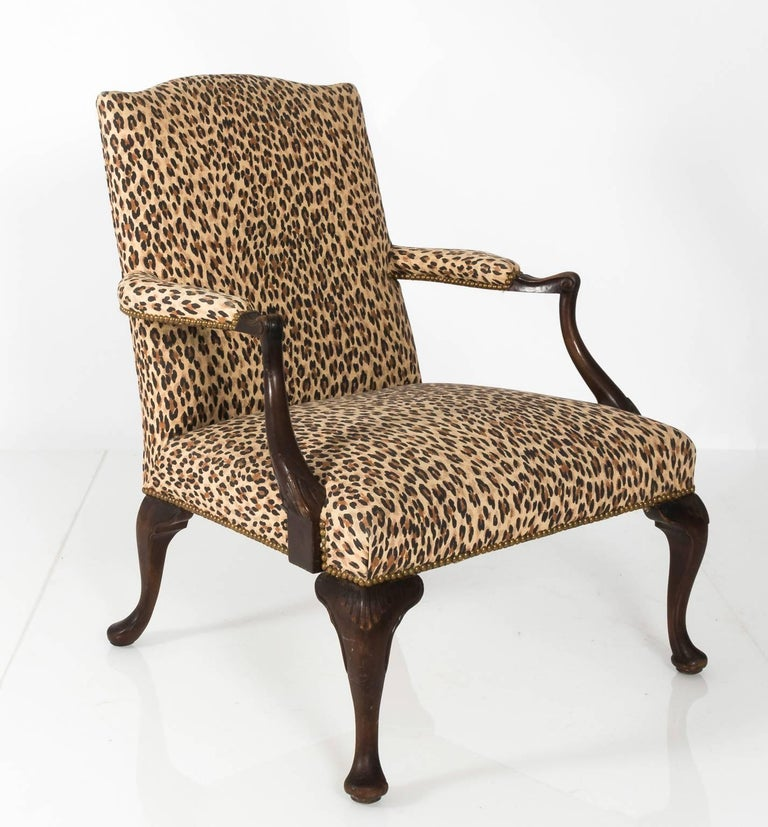 Mahogany Bergere Chair For Sale 1