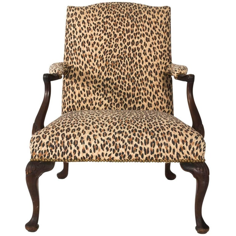 Mahogany Bergere Chair For Sale