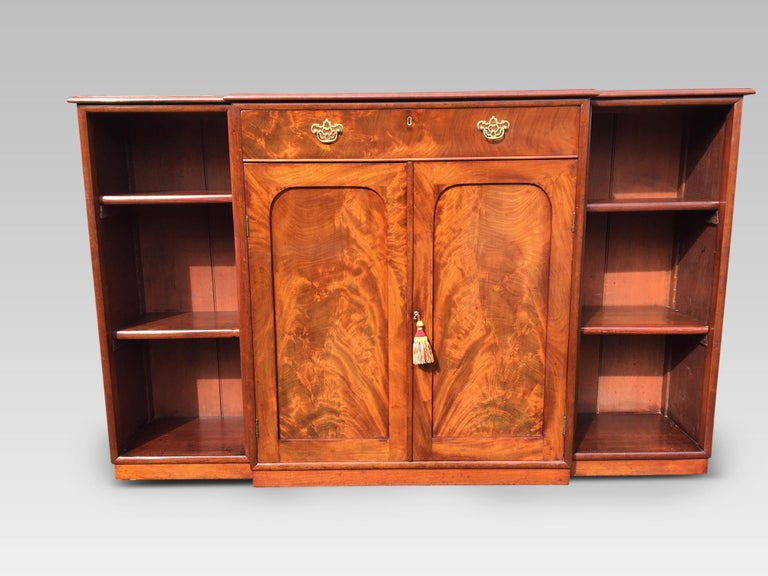 Hand-Crafted Mahogany Bookcase, English, circa 1860 For Sale