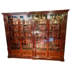 Mahogany Bookcase Large 4 Door Library, circa 1870