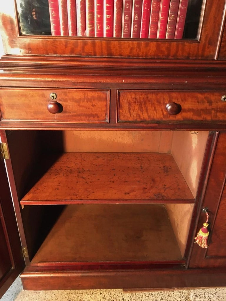 Mahogany Bookcase, Large, English, circa 1840 For Sale 1