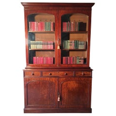 Mahogany Bookcase, Large, English, circa 1840