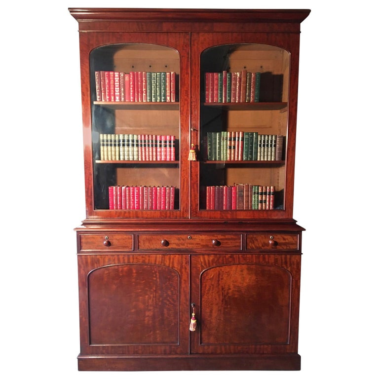 Mahogany Bookcase, Large, English, circa 1840 For Sale