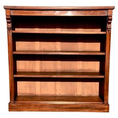 Mahogany Bookcase, Open Fronted, English, circa 1880