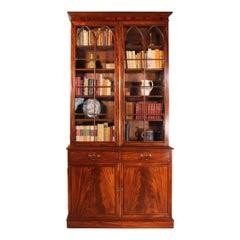 Mahogany Bookcase Regency Period-19th Century