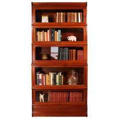 Mahogany Bookcase Said Stacking Bookcase 5 Items, Globe Wernicke