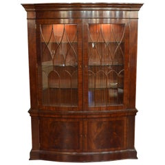 Mahogany Bow Front Display China Cabinet by Leighton Hall