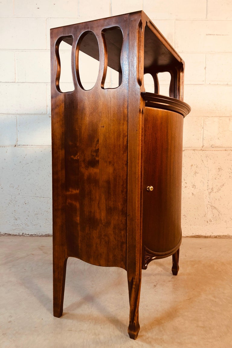 Mahogany Bow Front Storage Cabinet For Sale 5
