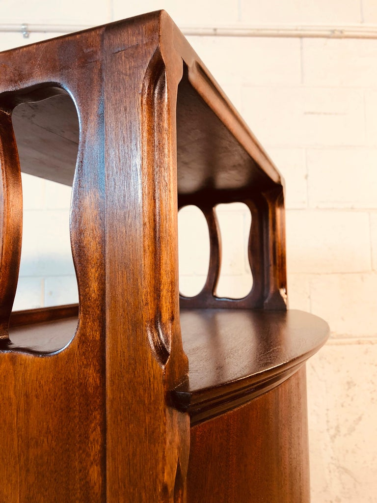 Mahogany Bow Front Storage Cabinet For Sale 6