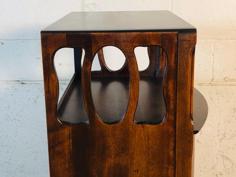 Art Nouveau Mahogany Bow Front Storage Cabinet For Sale