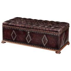 Mahogany Box Ottoman