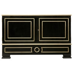Mahogany Buffet with Solid Bronze Accents Available in Any Dimension of Finish