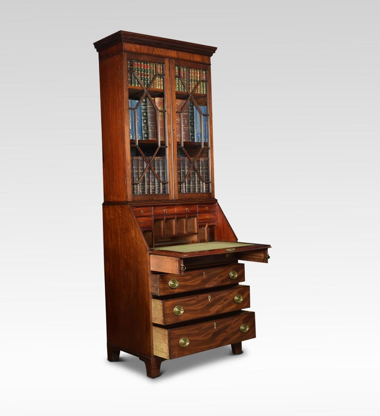 Mahogany Bureau Bookcase Off Small Proportions For Sale At