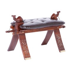 Mahogany Camel Saddle Foot Stool