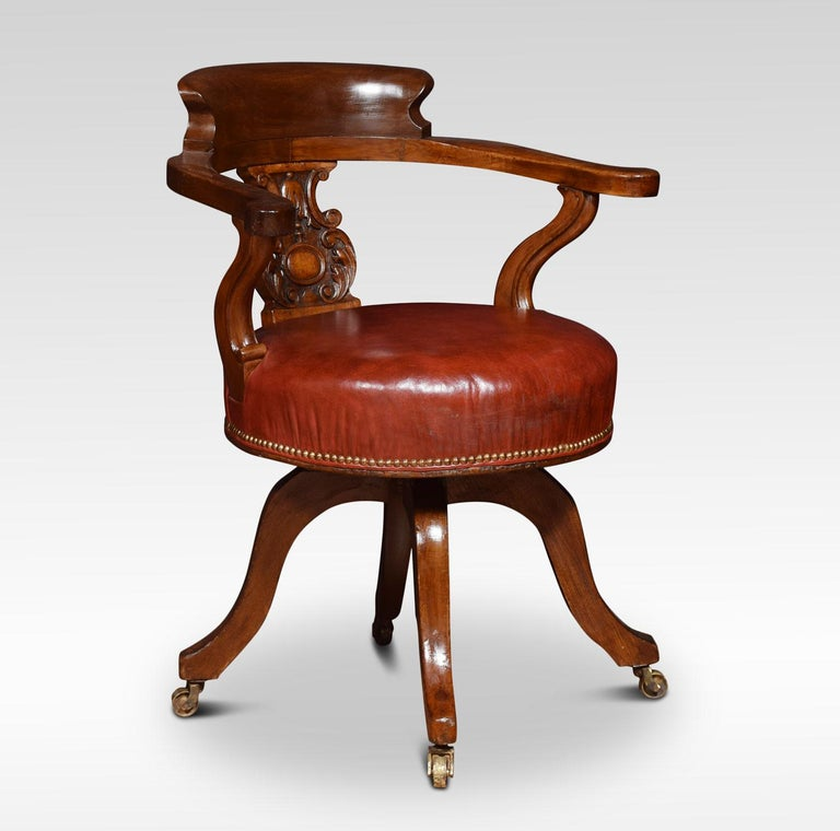 Mahogany Captains Office Chair For Sale At 1stdibs