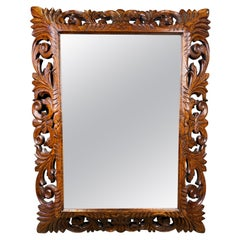 Mahogany Carved Mirror, 19th Century