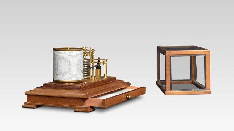 British Mahogany Cased Barograph For Sale