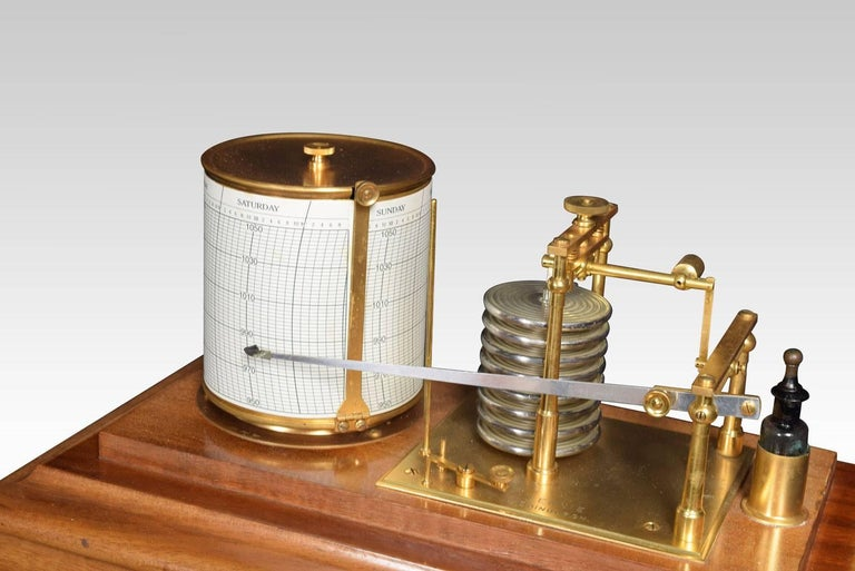 20th Century Mahogany Cased Barograph For Sale
